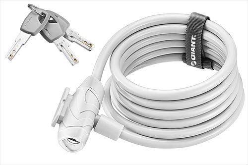 GIANT FLEX KEY CABLE LOCK ホワイト キータイプ ロングケーブルロック 2530円税込み