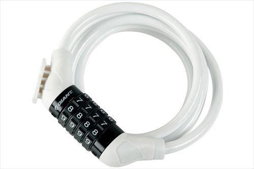 GIANT FLEX COMBO+ホワイト タイヤルタイプ ロングケーブルロック 2530円税込み
