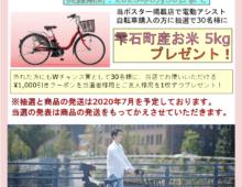自転車組合春の電動自転車キャンペーン20200630まで